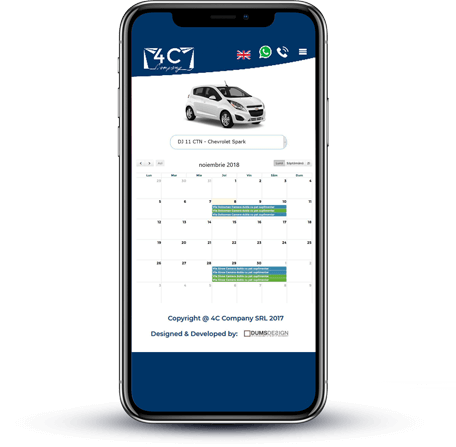 site rent a car unic cu soft de rezervari integrat